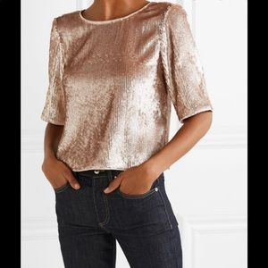 Cropped Sequin Top - Rose Gold Black Back Bow Tie